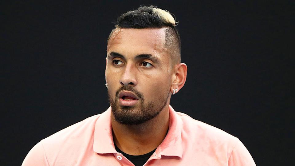 Pictured here, Nick Kyrgios has discussed challenges around race in the sport of tennis.
