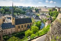 """Luxembourg made quite the upward leap—from 14th to 10th—bumping top 10 darlings <a href=""""https://www.cntraveler.com/galleries/2016-02-23/the-most-beautiful-places-in-canada?mbid=synd_yahoo_rss"""" rel=""""nofollow noopener"""" target=""""_blank"""" data-ylk=""""slk:Canada"""" class=""""link rapid-noclick-resp"""">Canada</a> and <a href=""""https://www.cntraveler.com/story/beyond-the-basics-australia?mbid=synd_yahoo_rss"""" rel=""""nofollow noopener"""" target=""""_blank"""" data-ylk=""""slk:Australia"""" class=""""link rapid-noclick-resp"""">Australia</a> down a few pegs. With a population under 600,000, the small country offers high salaries and a strong social security system to help its citizens after retirement. But before you jump to the conclusion that money is actually buying happiness in Luxembourg, the country has many other perks that have nothing to do with cash, including a great healthcare system and excellent <a href=""""https://www.cntraveler.com/gallery/countries-with-best-work-life-balance-in-europe?mbid=synd_yahoo_rss"""" rel=""""nofollow noopener"""" target=""""_blank"""" data-ylk=""""slk:work-life balance"""" class=""""link rapid-noclick-resp"""">work-life balance</a> (probably due to the mandatory five weeks of vacation time)."""