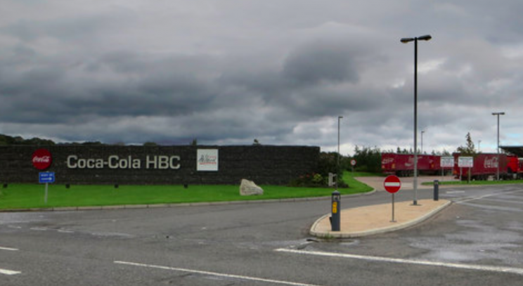 The human waste was reportedly found in cans at the Coca-Cola factory in Lisburn (Geograph)