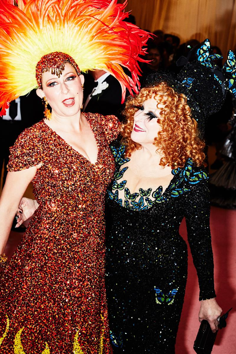 Sophie von Haselberg and Bette Midler on the red carpet at the Met Gala in New York City on Monday, May 6th, 2019. Photograph by Amy Lombard for W Magazine.