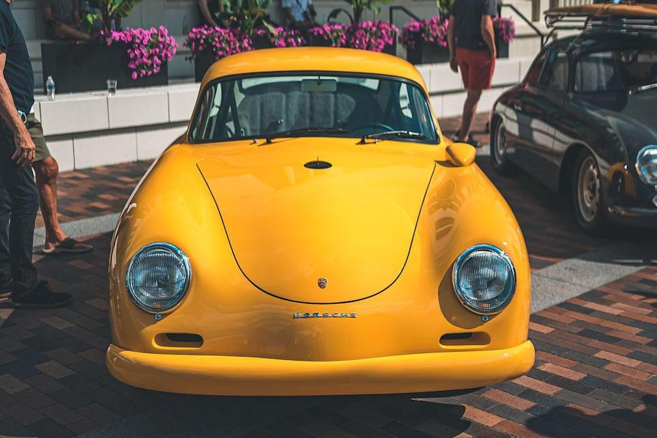 <p>The first of the 356s in 1956 were offered with a choice of five different four-cylinder engines, ranging from the 356A 1300 with 44 horsepower to the 356A 1500 GS Carrera with 100 horsepower. This 1958 365 has around 265 horsepower and weighs only 2000 pounds. The brilliant color, Speed Yellow, was available as factory paint for various 911s, 968s, Boxsters, and Caymans. It looks legit on a 356. This is the latest creation from Rod Emory at Emory Motorsports. He's built over 200 beautiful Speedsters, dubbed the 356 Outlaw.</p>