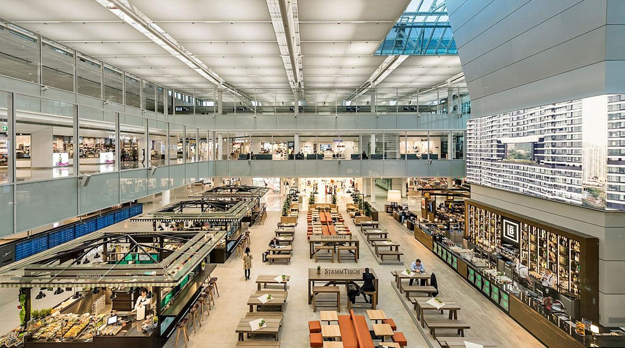 """A major Lufthansa hub, Munich Airport is more than just a convenient gateway to central Europe—it's a place you <em>actually</em> want to stay awhile, with a range of seasonal events including, naturally, Oktoberfest celebrations, ice skating in the winter, and its very own version of those famed <a href=""""https://www.cntraveler.com/gallery/the-best-christmas-markets-in-germany?mbid=synd_yahoo_rss"""">German Christmas markets</a>. The onsite <a href=""""https://www.cntraveler.com/hotels/munich/hilton-munich-airport?mbid=synd_yahoo_rss"""">Hilton Munich Hotel</a> is near the top of Skytrax's list of <a href=""""https://www.airlinequality.com/review-pages/top-10-airport-hotels/"""">top airport hotels</a> in the world."""