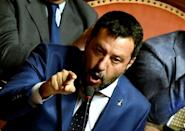 Salvini has repeatedly said that he wants his day in court (AFP Photo/Filippo MONTEFORTE)