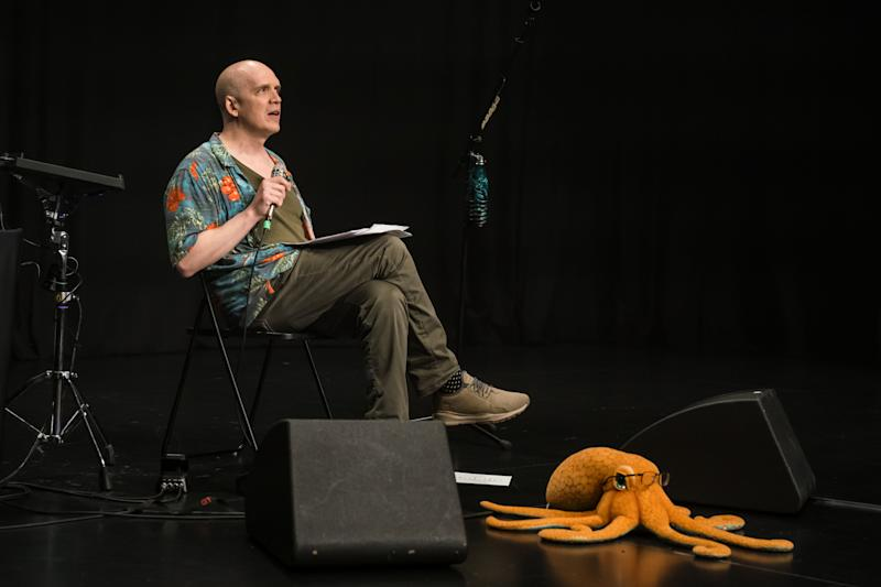 Townsend's set included two Q&A sessions with the audience. And, yes, that's a toy octopus on stage. (PHOTO: LAMC Productions)