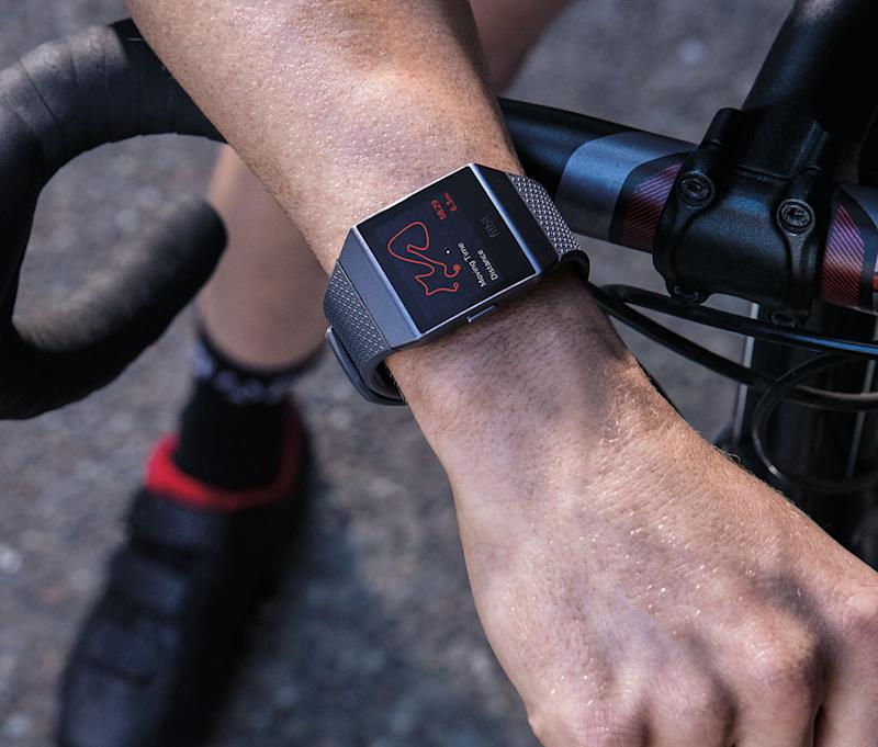 Track your fitness and activity with the Fitbit Ionic. (Photo: Amazon)