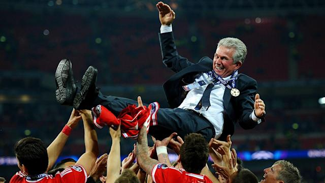 The Bundesliga champions take on Besiktas in the last 16 but their manager has cooled talk of his side repeating their 2013 treble success