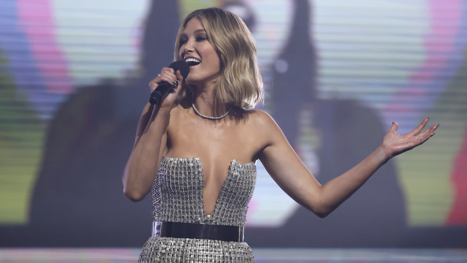 Delta Goodrem has been inspired to write a track in honour of Sir Elton John on her new album (Image: Getty Images)
