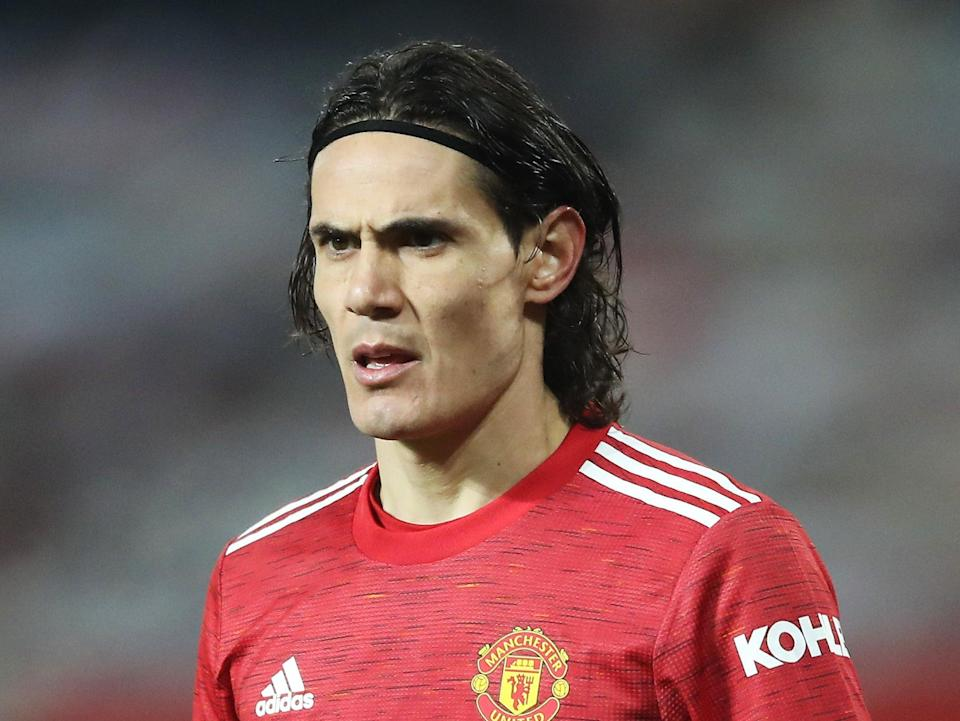 El delantero del Manchester United Edinson Cavani (Getty Images)