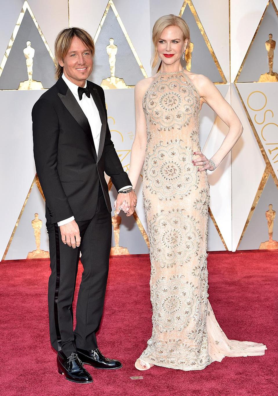 <p>Keith Urban and Nicole Kidman attend the 89th Annual Academy Awards at Hollywood & Highland Center on February 26, 2017 in Hollywood, California. (Photo by Kevin Mazur/Getty Images) </p>