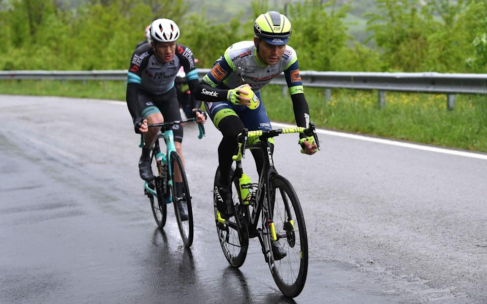 Rein Taaramae leads ahead of Chris Juul-Jensen, but can the Estonian rider take the leader's pink jersey? - GETTY IMAGES