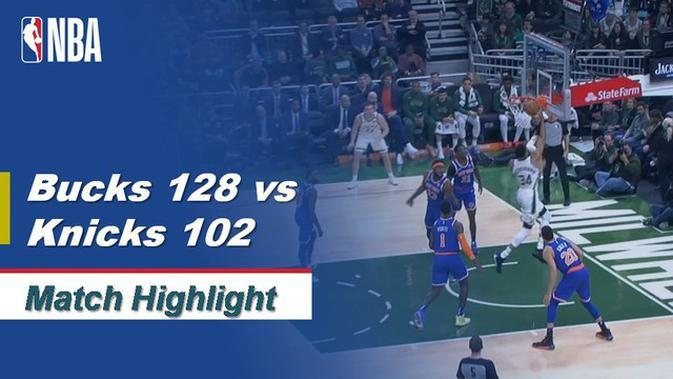VIDEO: Highlights NBA 2019-2020, Milwaukee Bucks vs New York Knicks 128-102