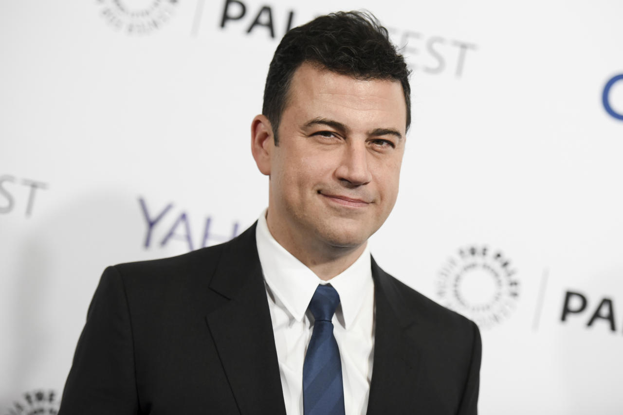 """<p> FILE - In this March 8, 2015, file photo, Jimmy Kimmel arrives at the 32nd Annual Paleyfest : """"Scandal"""" held at The Dolby Theatre in Los Angeles. Kimmel said on Sept. 19, 2017, that Republican Sen. Bill Cassidy """"lied right to my face"""" by going back on his word to ensure any health care overhaul passes a test the Republican lawmaker named for the late night host. (Photo by Richard Shotwell/Invision/AP, File) </p>"""
