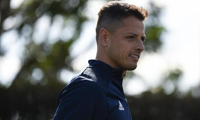 """<span class=""""element-image__caption"""">Javier Hernández will be hoping to deliver LA Galaxy their first title since 2014.</span> <span class=""""element-image__credit"""">Photograph: Kelvin Kuo/AP</span>"""
