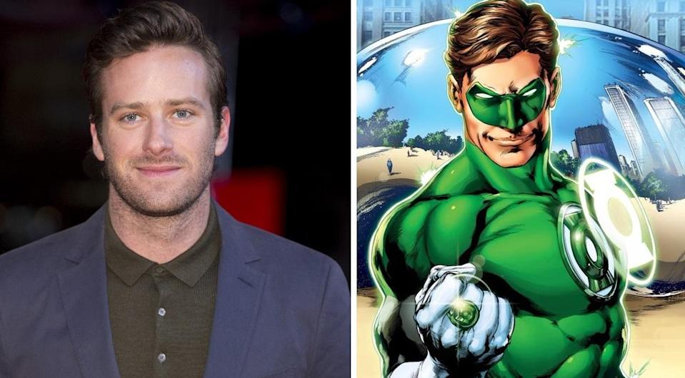Could Armie Hammer be the new Green Lantern...? (Credit: WENN/DC Comics)