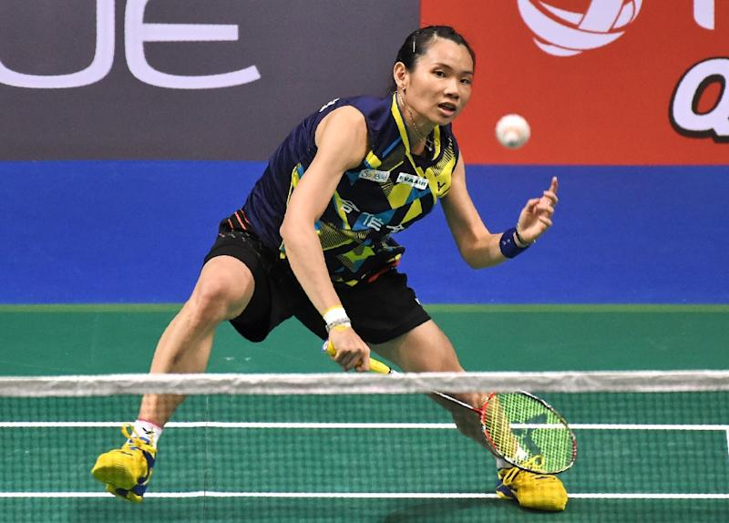 Tai Tzu-Ying of Taiwan during her Singapore Open Final match against Carolina Marin, which she won in two quick clinical sets on April 16, 2017