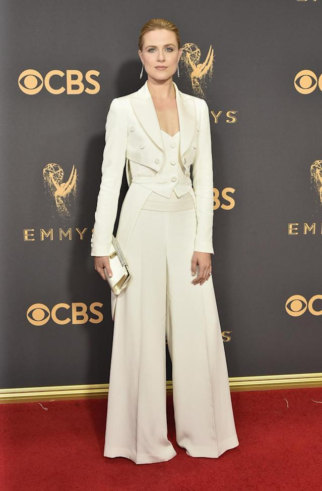 <p>Evan Rachel Wood attends the 69th Annual Primetime Emmy Awards on September 17, 2017.<br> (Photo: Getty Images) </p>