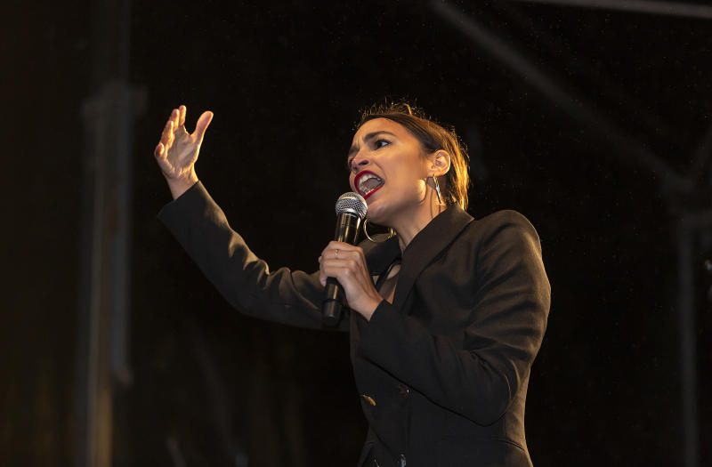 U.S. Rep. Alexandria Ocasio-Cortez spoke passionately in Copenhagen about how climate change could affect her becoming a parent. (Photo: Ole Jensen/Getty Images)