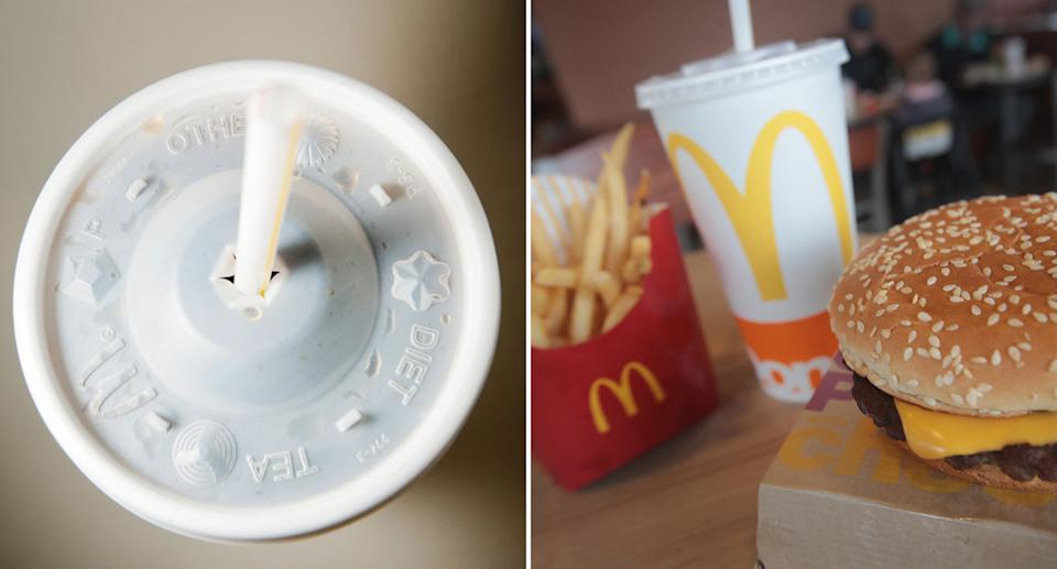 McDonald's drink lid symbols and what they mean