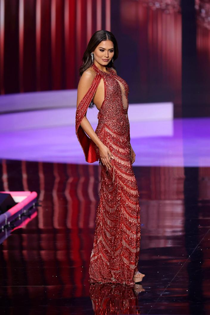 Miss Mexico at the 2021 Miss Universe on May 16