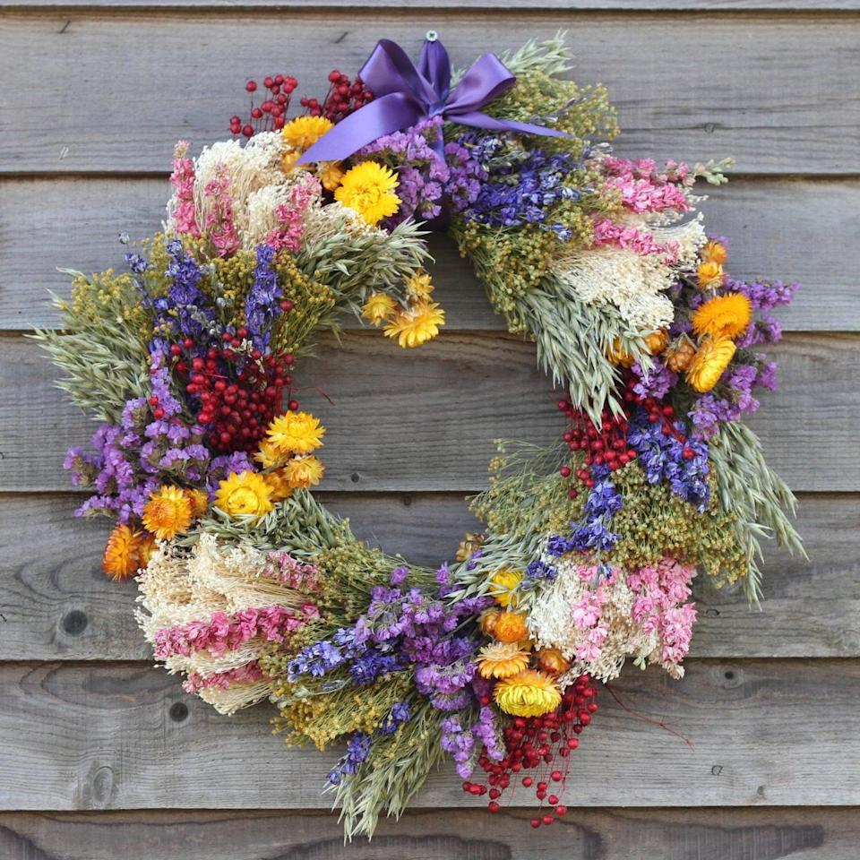 Mother's Day Dried Flower Wreath