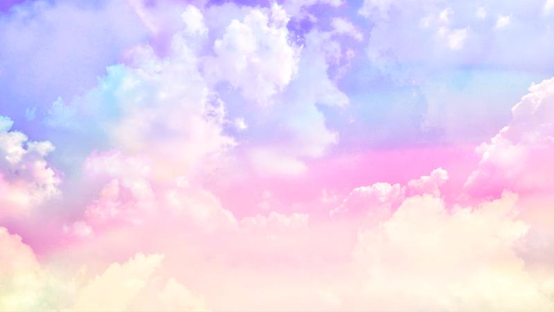 Pastel cloudy sky