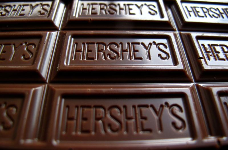 FILE PHOTO: A Hershey's chocolate bar is shown in this photo illustration in Encinitas