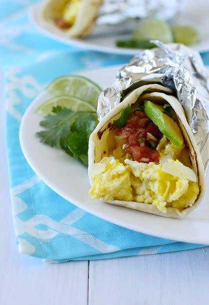 "<strong>Get the <a href=""http://www.annies-eats.com/2011/10/17/breakfast-tacos/"" rel=""nofollow noopener"" target=""_blank"" data-ylk=""slk:breakfast tacos recipe"" class=""link rapid-noclick-resp"">breakfast tacos recipe</a> by Annie's Eats.</strong>"