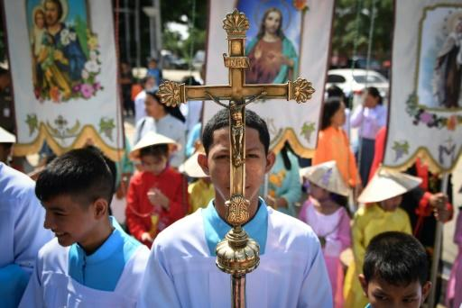 Thailand's Catholic community officially accounts for 0.59 percent of the population