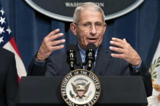 """Anthony Fauci, director of the National Institute of Allergy and Infectious Diseases, tells a White House briefing that the United States is facing a """"serious problem"""" in some areas because of the coronavirus"""