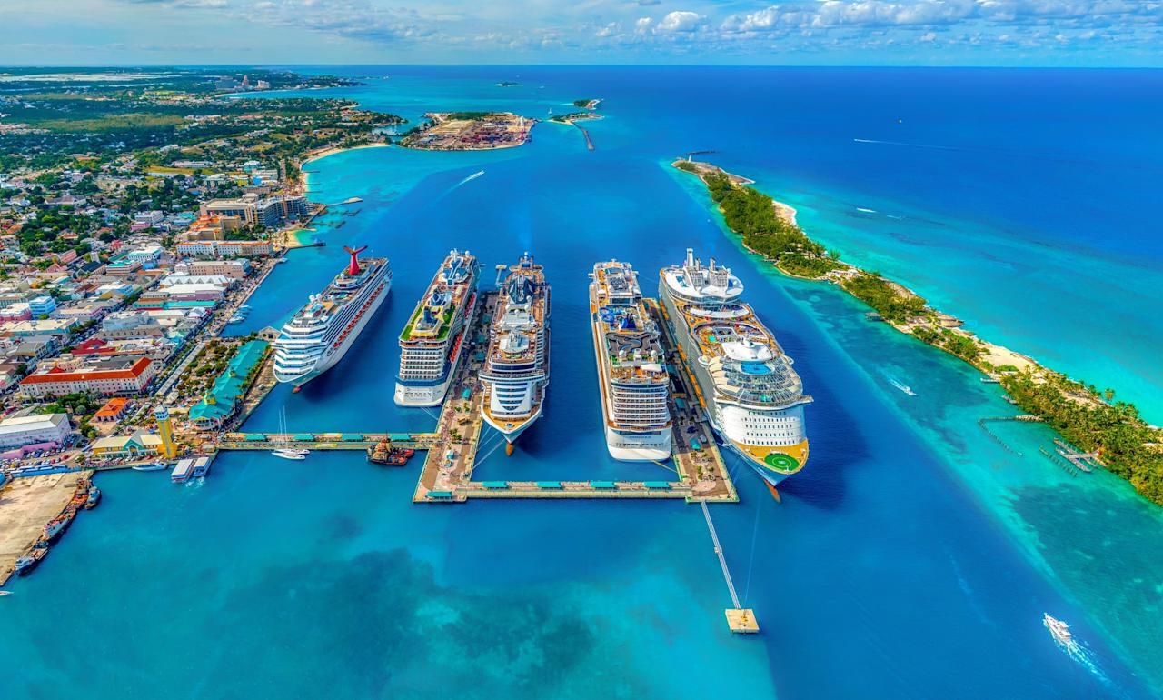 """<p>Cruising through the Bahamas is bucket list goals, and there's no better time to plan it than Spring break. With <a href=""""http://www.carnival.com"""" target=""""_blank"""" class=""""ga-track"""" data-ga-category=""""Related"""" data-ga-label=""""http://www.carnival.com"""" data-ga-action=""""In-Line Links"""">Carnival Cruise Line</a>, for example, you can hop onboard and explore everywhere from Nassau to Half Moon Cay to Princess Cays to Freeport without any stress. On the ships, Food Network star chef and longtime Carnival fan Guy Fieri opened the included eatery that serves up hand-crafted burgers, fresh-cut fries, and a loaded toppings bar.</p>"""