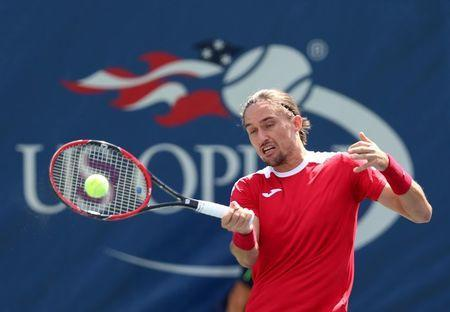 FILE PHOTO: Aug 30, 2016; New York, NY, USA; Alexandr Dolgopolov of Ukraine in action against David Ferrer of Spain on day two of the 2016 U.S. Open tennis tournament at USTA Billie Jean King National Tennis Center. Mandatory Credit: Jerry Lai-USA TODAY Sports / Reuters