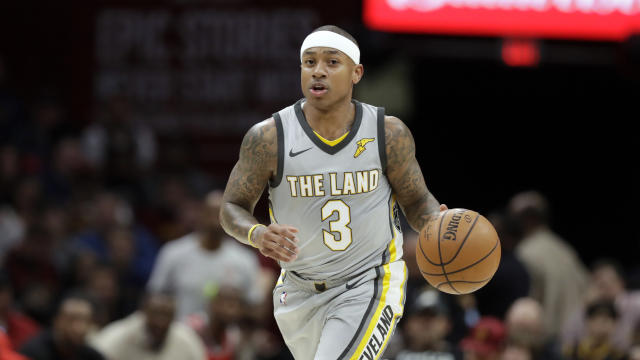 Cavaliers point guard Isaiah Thomas will be a free agent this summer. (AP)