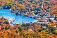 """<p>This picturesque seaside town was voted one of the best places in New England to view fall foliage by <a href=""""https://www.frommers.com/destinations/new-england/introduction/the-best-places-to-see-fall-foliage"""" rel=""""nofollow noopener"""" target=""""_blank"""" data-ylk=""""slk:Frommer's"""" class=""""link rapid-noclick-resp"""">Frommer's</a> and <a href=""""https://www.travelandleisure.com/trip-ideas/new-england-fall-foliage"""" rel=""""nofollow noopener"""" target=""""_blank"""" data-ylk=""""slk:Travel and Leisure"""" class=""""link rapid-noclick-resp""""><em>Travel and Leisure</em></a>. You can admire the spectacular fall color palette while on a boat cruise at Camden Harbor. </p><p><a class=""""link rapid-noclick-resp"""" href=""""https://go.redirectingat.com?id=74968X1596630&url=https%3A%2F%2Fwww.tripadvisor.com%2FHotels-g40550-Camden_Maine-Hotels.html&sref=https%3A%2F%2Fwww.thepioneerwoman.com%2Fhome-lifestyle%2Fg36804013%2Fbest-places-to-see-fall-foliage%2F"""" rel=""""nofollow noopener"""" target=""""_blank"""" data-ylk=""""slk:FIND A HOTEL"""">FIND A HOTEL</a></p>"""