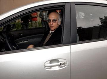 Larry David Trapped in a Parking Garage, and It's Not for 'Curb Your Enthusiasm' (Video)