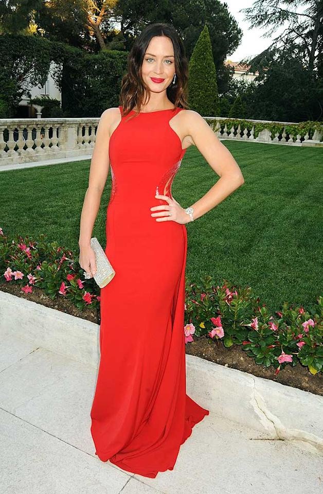 "English rose Emily Blunt was flawless in a showstopping fire engine red Georges Chakra Fall 2010 gown, which was perfectly set off by her dazzling clutch and jewels. Dave M. Benett/<a href=""http://www.gettyimages.com/"" target=""new"">GettyImages.com</a> - May 20, 2010"