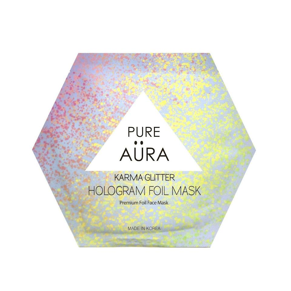 <p>If they love sheet masks, they'll love susing this hydrating <span>Pure Aura Karma Glitter Foil Mask</span> ($6). It's such a fan way to incorporate some self-care.</p>