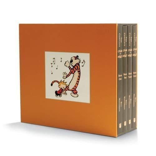 """<h2>The Complete Calvin and Hobbes Box Set (Paperback)</h2><br><br>An unexpected but seriously comic-book classic for the young (or the young at heart).<br><br><strong>Bill Watterson</strong> The Complete Calvin and Hobbes Box Set (Paperback), $, available at <a href=""""https://www.amazon.com/dp/1449433251"""" rel=""""nofollow noopener"""" target=""""_blank"""" data-ylk=""""slk:Amazon"""" class=""""link rapid-noclick-resp"""">Amazon</a>"""