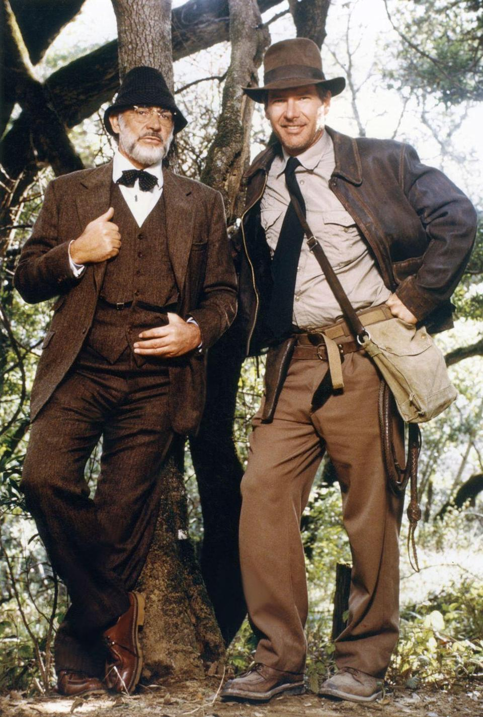 <p>Ford and Connery on the set of <em>Indiana Jones and the Last Crusade</em>.</p>