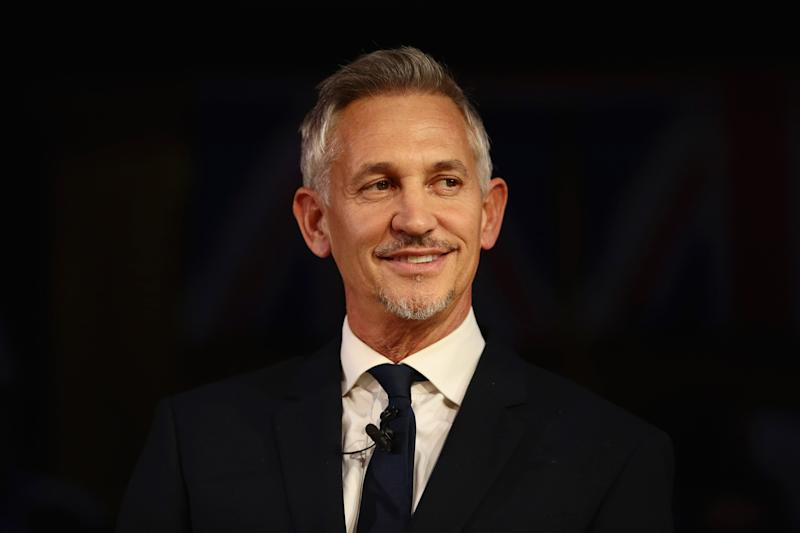 LONDON, ENGLAND - NOVEMBER 14: Gary Lineker speaks during a pro-remain a rally rejecting the the Prime Minister's Brexit deal on November 14, 2018 in London, England. Anti-Brexit groups 'Best for Britain' and 'The People's Vote Campaign' are holding a joint rally tonight to call on MPs to say they are not buying the Prime Minister's Brexit deal. (Photo by Jack Taylor/Getty Images)