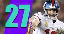 <p>Eli Manning has had a historic career, and with the walls closing in on him it was fun to see Manning have at least one more big moment, leading the Giants to a win on Monday night. (Eli Manning) </p>