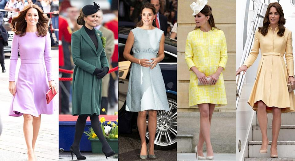 The Duchess of Cambridge has worn numerous looks by Emilia Wickstead over the years [Photos: Getty]