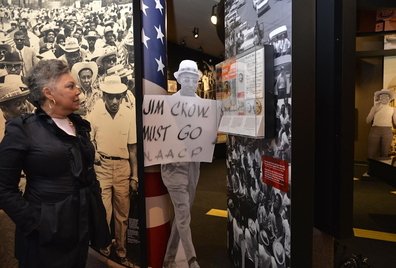 <p>Judy Meredith, James Meredith's wife, got a private tour of the new Mississippi Civil Right Museum in Jackson on Dec. 5, 2017 before its official opening on Saturday, Dec. 9th. Mrs. Meredith is pictured viewing the James Meredith and Ole Miss Riots display in the new Civil Rights Museum. (Photo: Suzi Altman via ZUMA Wire) </p>