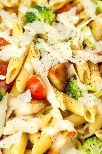 """<p>This is the perfect side for your next BBQ.</p><p>Get the <a href=""""https://www.delish.com/uk/cooking/recipes/a29260396/chicken-caesar-pasta-salad-recipe/"""" rel=""""nofollow noopener"""" target=""""_blank"""" data-ylk=""""slk:Chicken Caesar Pasta Salad"""" class=""""link rapid-noclick-resp"""">Chicken Caesar Pasta Salad</a> recipe. </p>"""