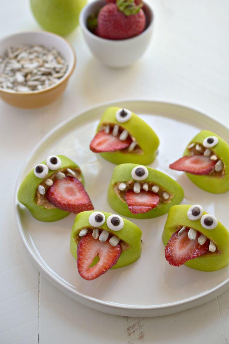 """<p>Wouldn't a tray of appetizers be more fun with these green apple and strawberry googly-eyed monsters?</p><p><a class=""""link rapid-noclick-resp"""" href=""""https://www.forkandbeans.com/2015/08/06/silly-apple-bites/"""" rel=""""nofollow noopener"""" target=""""_blank"""" data-ylk=""""slk:GET THE RECIPE"""">GET THE RECIPE</a></p>"""