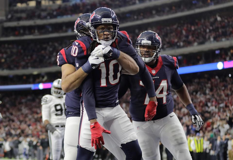 DeAndre Hopkins, still a fantasy asset. Let's try to forget the Osweiler era. (Photo by Tim Warner/Getty Images)
