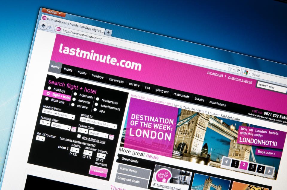 More than 9,000 customers whose holidays were cancelled by lastminute.com are currently awaiting refunds, the CMA said. Photo: Getty Images