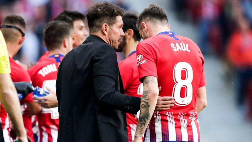 Simeone e Saul | Soccrates Images/Getty Images