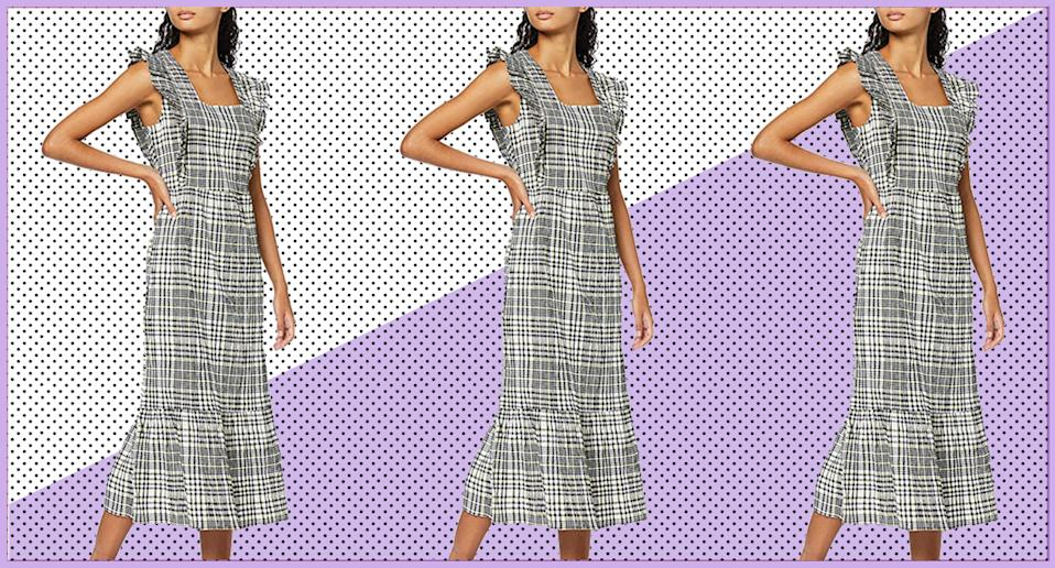 Ganni's Check Maxi Dress was the talk of Fashion Week, but we've found a very similar (and affordable) alternative. (Getty Images)