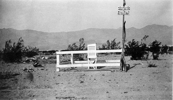 The weather station at Furnace Creek in Death Valley where the hottest temperature ever recorded, a whopping 134 degrees Fahrenheit (56.7 degrees Celsius), was reached on July 10, 1913.