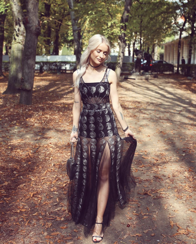 <p>Blogger In The Frow is serving up Dior gown goals. <em>[Photo: Inthefrow/Instagram]</em> </p>